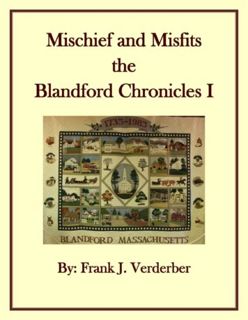 The Blandford Chronicles I - Mischief and Misfits